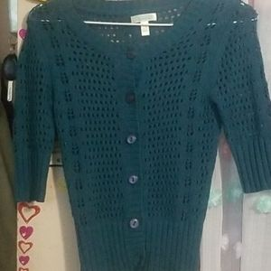 Susina 3/4 sleeved button cardigan size XS